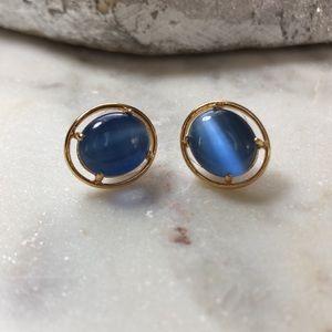 Kate Spade Blue Cats Eye Post Earrings